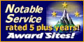 Award Sites!  5 plus years Notable Service.